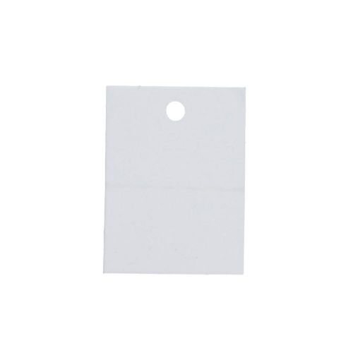 Labels for jewellery / rectangular / 40x30mm / white / 20pcs