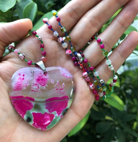 How to make a agate necklace - step by step tutorial