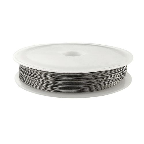 Jewellery wire / surgical steel / 0.30mm / silver / 42m