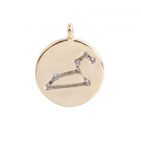 Gold Plated Leo Constellation Zodiac Charm 11mm Pk1