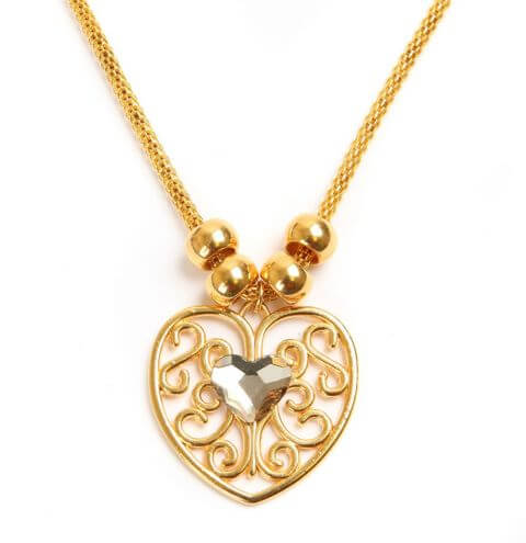 Queen of Hearts Gold Necklace