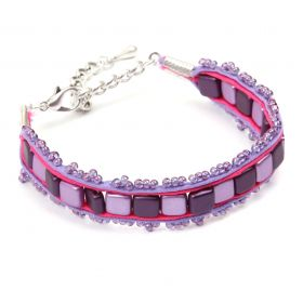 Purple Soutache Tile Bracelet Take a Make Break Kit - Makes x1