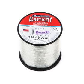 Clear Elasticity Beading Cord 1mm 100metre Reel