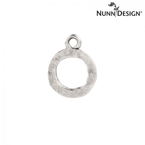 Nunn Design Antique Silver Small Hammered Ring 13mm Pk1