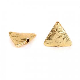Gold Plated Fancy Triangle Bead 13mm Pk5