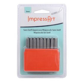 ImpressArt Capital Letter Embossing Stamps 3mm Pk27