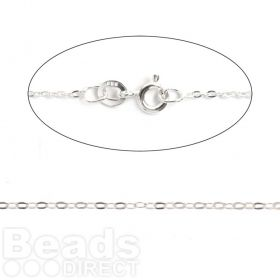 Sterling Silver Extra Fine Trace Chain with Clasp 18inches