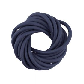 Leather cord / natural / round / 1.5mm / ink / 2m