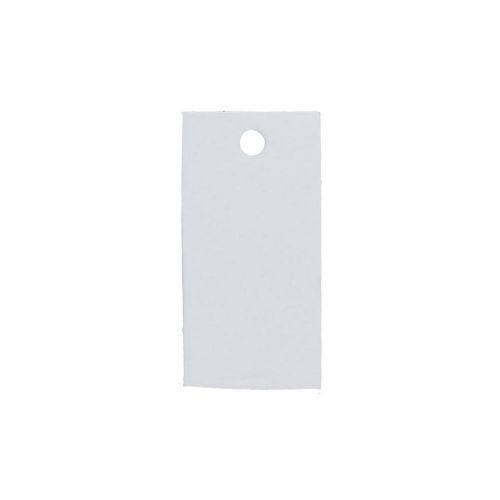 Labels for jewellery / rectangular / 38x18mm / white / 20pcs