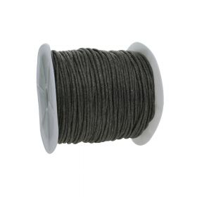 Waxed cord / graphite cord / 2.0mm / 72m