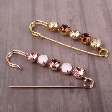 Crystal Blush Brooch Pins