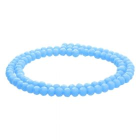 CrystaLove™ crystals / glass / faceted round / 4mm / baby blue / lustered / 100pcs