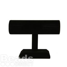 Black Velour Jewellery Stand For Bracelets 14x18cm Pk1