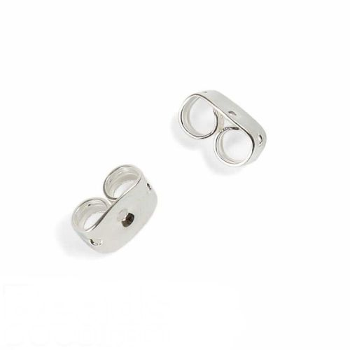 Silver Plated over Surgical Steel Earnuts Pk100