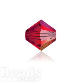 5328 Swarovski Crystal Bicones 4mm Light Siam AB Pk1440
