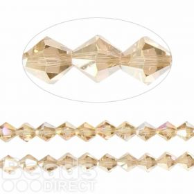 Essential Crystal 8mm Bicones Champagne AB Pk35