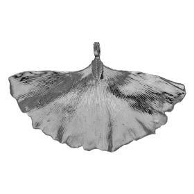 Ginkgo leaf / copper / pendant / 54x70x4mm / black / 1pcs