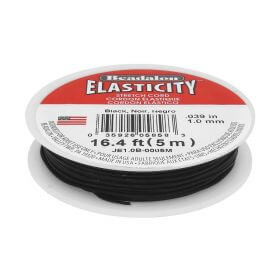 Beadalon ™ / Elasticity / jewellery elastic / 1.0mm / Black / 5m