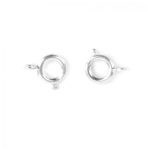 """""""X"""" Silver Plated Small Bolt Ring Clasps 6mm Pk5"""
