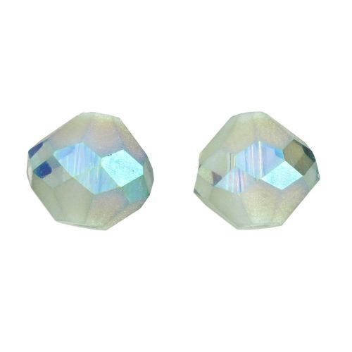 CrystaLove ™ / frosted / glass crystals / diamond / 8mm / emerald / opalescent / 4pcs