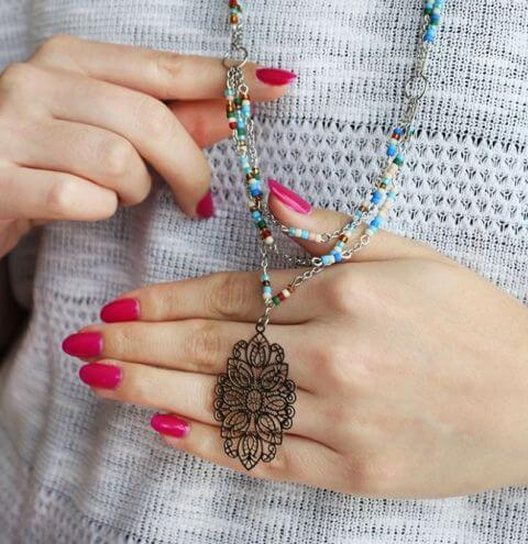 How to make a necklace with a filigree pendant - Boho style jewellery making course