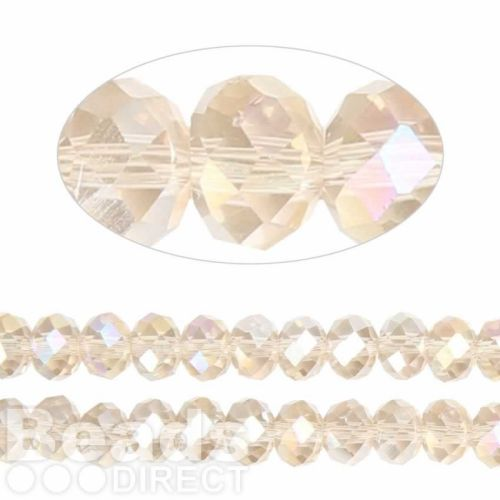Essential Crystal Faceted 8mm Rondelle Champagne AB 72pack