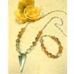 How to make a beaded necklace and matching bracelet. Jewellery making tutorial for beginners.