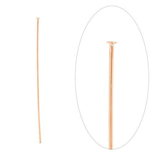 Rose Gold Plated Brass Headpins 50mm Pk100