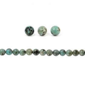 African Turquoise A Grade Semi Precious Round Beads 6mm Pk20