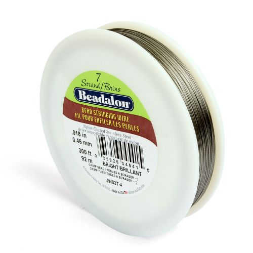 Beadalon 7 Strand Flexible Beading Wire 'Bright' 0.018in 300ft