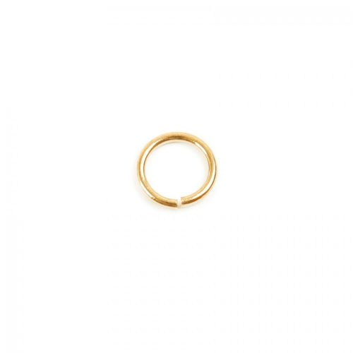 Gold Plated Jump Rings 6mm 0.8mm Thick Pk50