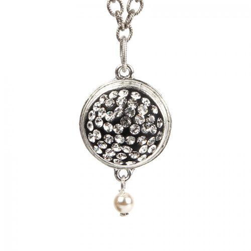 Antique Silver Plated Nunn Design Necklace Kit with Clay & Crystals