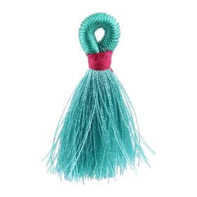 Mint/Fuchsia Loop Tassel 40mm Pk1