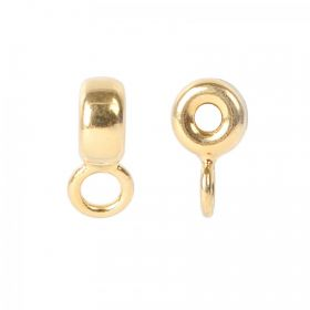 Gold Plated Sterling Silver 925 Charm Carrier Bead 6mm (2.1mm) Pk1