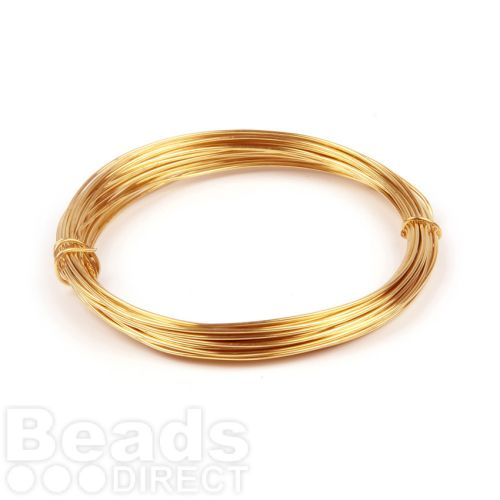 Gold Colour Plated Copper Wire 1.25mm 3metre Coil