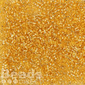Miyuki Delica Size 11 Beads Silver-Lined Gold 5g