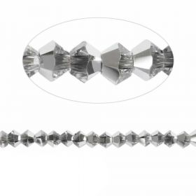 5328 Swarovski Crystal Bicones Xillion 3mm Crystal Comet Argent Light (CAL) Pk24