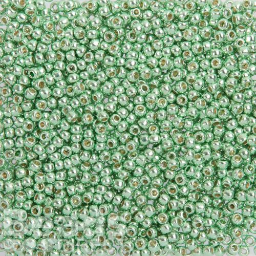 Toho Size 8 Round Seed Beads Permanent Finished Galvanized Mint Green 10g