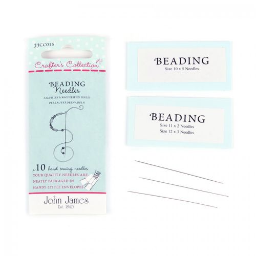 John James Beading Needles Pack of 10 (5x10, 2x11, 3x12)