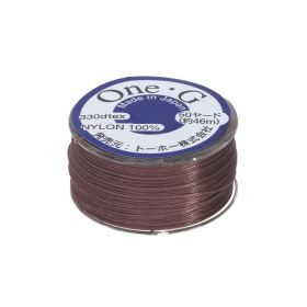 TOHO One-G ™ / nylon thread for beads / Mauve / thickness 0.35mm / 46m