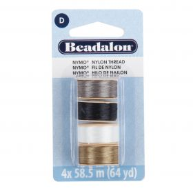 Beadalon Nymo Beading Thread pk 4