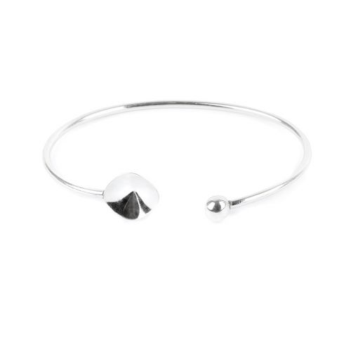 X-Sterling Silver 925 Bangle Base Holds 4470 12mm Stone Pk1