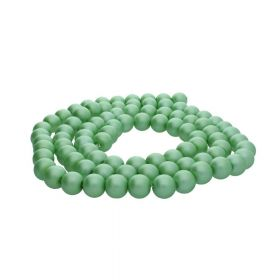SeaStar™ satin / round / 8mm / green / 120pcs