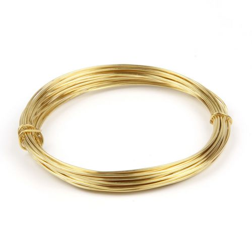X Brass Plated Copper Wire 0.8mm 6metre Coil