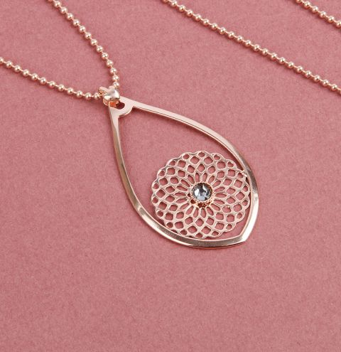 Rose Blush Filigree Necklace