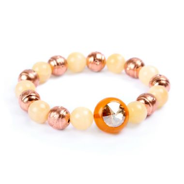 Yellow 'Crystal Orb' Bracelet