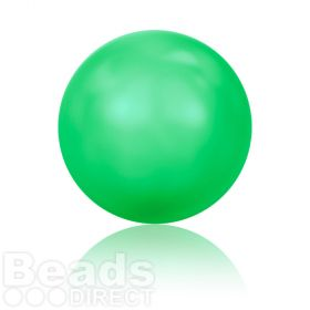 5811 Swarovski Glass Pearls 10mm Crystal Neon Green Pk100