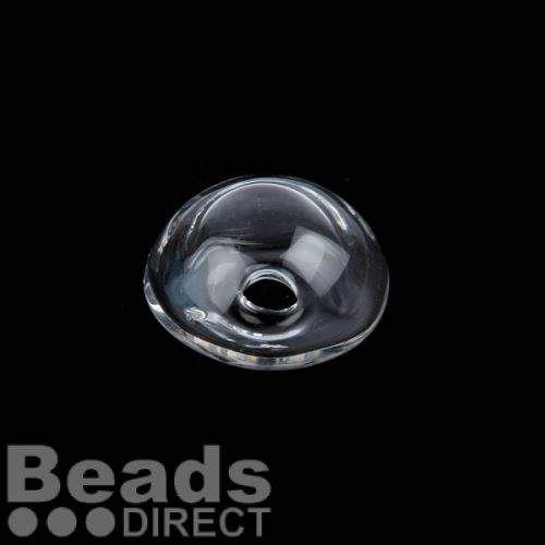Transparent Glass Dome 12x21mm 5mm Hole at Top Pk1