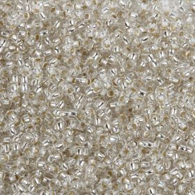 Preciosa Size 10 Round Seed Beads Silver Lined Crystal 50g