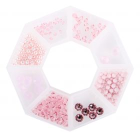 Pale Dogwood - Swarovski Bead Selection in storage ring